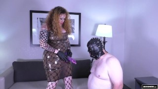 Femdom Throat Fuck in Latex C4S 9861 Mistress Julie Simone  julie simone femdom female supremacy extreme throat fuck redhead femdom chubby kink butt big boobs mistress julie female domination throat fuck julie simone latex femdom fake tits female dominatrix dildo suck
