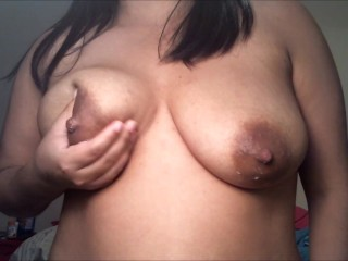 Milking my tits slow and sensual hand expression