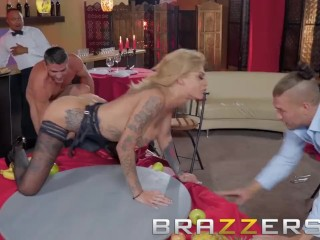 Preview 5 of Brazzers- Bonnie Rotten The Cumback - Tattooed pornstar gets dped