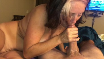 My wife sucking his dick