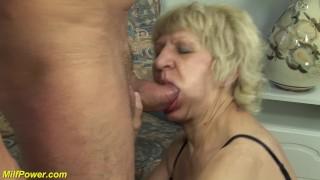 skinny hairy grandma gets rough fucked