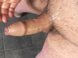 Uncut Cock Jacking Off Feels Great