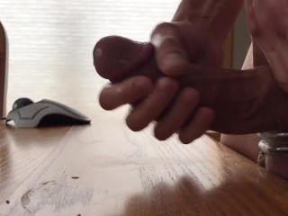 Soft To Hard Cock Ring Wank Session