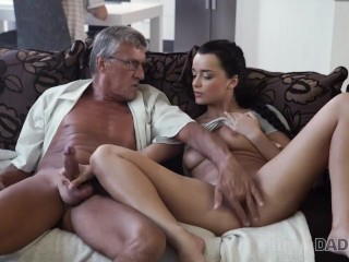 Dillion carter daddy4k old and young lovers have spontaneous sex behind guys back da