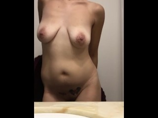 Latina fresh out the shower