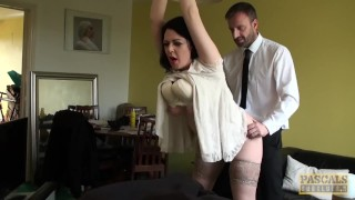 Subslut Harley Sin chubby body made jiggle with pounding
