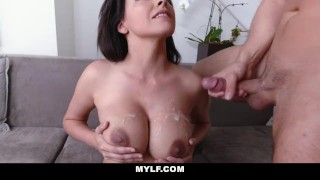 MYLF-Busty Milf Cares For Young Stepson With Her Pussy Tits cock