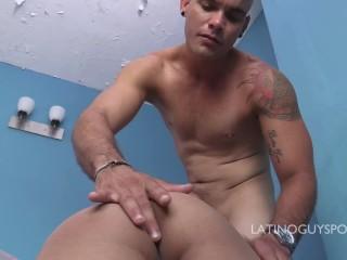 Latin papi Odin hot bareback action with bottom boy Gus