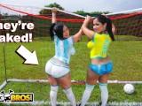 BANGBROS – Sexy Latina Pornstars With Big Asses Play Soccer And Get Fucked