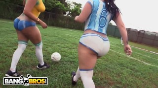BANGBROS - Sexy Latina Pornstars With Big Asses Play Soccer And Get Fucked Toys facial