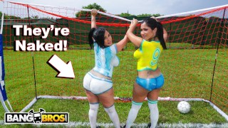 BANGBROS - Sexy Latina Pornstars With Big Asses Play Soccer And Get Fucked Drilled big