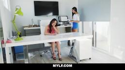 MYLF - Mature Lesbian Boss Fucks Young Teen Employee