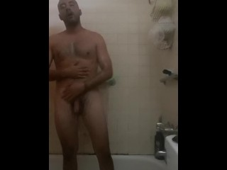 Solo shower scene