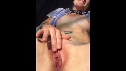 Outdoor Hammock Pussy Masturbation Fun