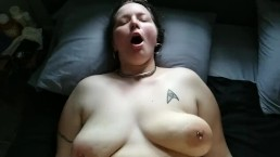 Collared slave with pierced nipples slow motion floppy tits