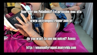 ASMR Novinha Safada Teen College Dirty Talk ENGLISH PORTUGUESE AND SPANISH Pussy in