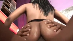 Gorgeous Ebony Sydnee Capri In Fishnet Anal Fuck