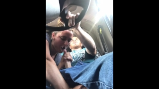 Lizard lucious giving cum road lot amazing head my sucks all out trucker facial