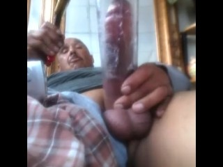 Morning wake up hitting the pizzo & pumping my cock