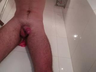 Loads of prostate milking before a hot cumshot