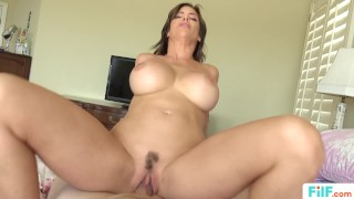 FILF - Stepmom Alexis Fawx Uses Stepson To Fulfill Her Sexual Needs Oiled cowgirl