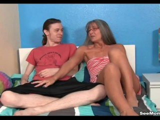Preview 2 of Milf Empties Step-sons Balls Sucking His Thick Cock