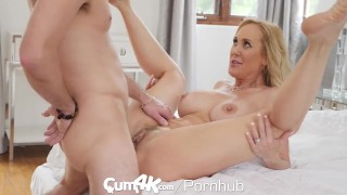 CUM4K Step Mom Brandi Love FILLED with multiple creampies Tits kissing