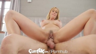 CUM4K Step Mom Brandi Love FILLED with multiple creampies Cunnilingus of