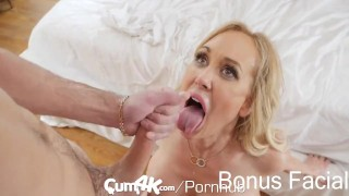 CUM4K Step Mom Brandi Love FILLED with multiple creampies Curves boobs
