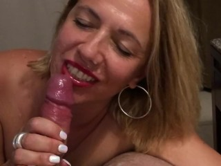 My slut ex gf tells me to cum in her mouth before her husband comes home…