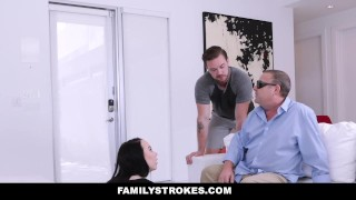 Dad stepsister stepbrother fucks blind to familystrokes next licking british
