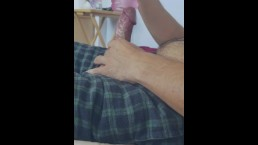 My Hard throbbing Cock filling up a fake pussy.