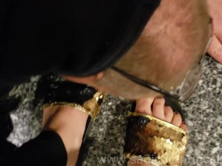 REAL Public Humiliation at the airport!! with Goddess Lilith