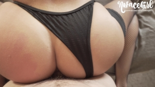 Quick Doggystyle Fuck in Fishnets - Amateur NoFaceGirl Love collar
