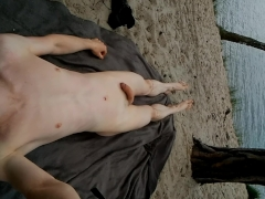 wank on nudist beach