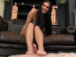 obey femdom footjob