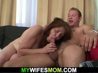 Guy doggy-fucks his girlfriends old mother