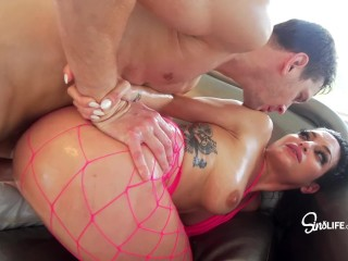 Elderly womem sluts markus dupree fucks kissa sins squirting covered in oil, orgasm squirting butt big cock markus dupree