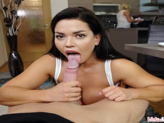 Ass Takes Taboo video: VIRTUAL TABOO - Busty Chloe Takes In Ass For Breakfast