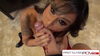 FirstClassPOV - Nadia Styles sucking a monster cock, big booty & big boobs