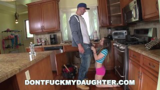 DON'T FUCK MY DAUGHTER - Chris Strokes, The Plumber, Gets His Pipe Cleaned  the help big cock dontfuckmydaughter whooty teen plumber reverse cowgirl skinny big dick young hardcore pawg brunette petite plowed drilled teenager dfmd15042