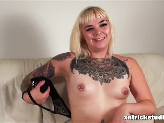 Hot Tattooed Model Ami Shows Her Body And Audition At First Casting