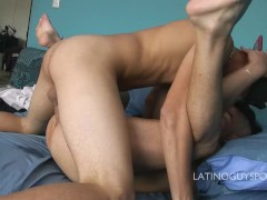 Latin papis Urbano & Kar instense kissing scene so hot!
