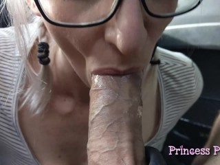 Daddys Cum Slut - Car Blowjob Compilation for Fathers Day
