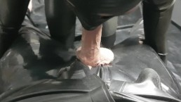 RUBBER SUB SUCKS SIRS UNCUT COCK BEFORE GETTING FUCKED!
