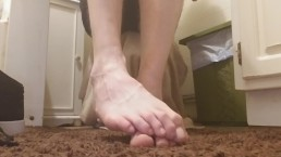 Playing with my size 16 feet (full video on premium)