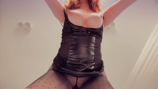 Ripped Pantyhose Big Tits Ginger Redhead Teen PAWG Creampie Doggystyle Young blowjob