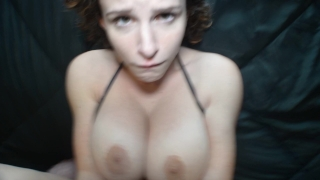 POV of THOSE TITS in a black bikini Mother boobs