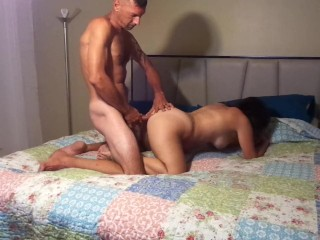 Fucking that tight ass and pussy she loves it
