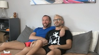 Sherman dives right in, priming Alex's hole for his thick cock